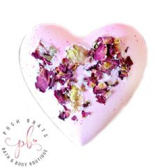 Antique Rose Mega Fizzy Bath Heart VEGAN